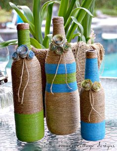 Cameo Cottage Designs: Recycled Bottles for Moms New Lake House
