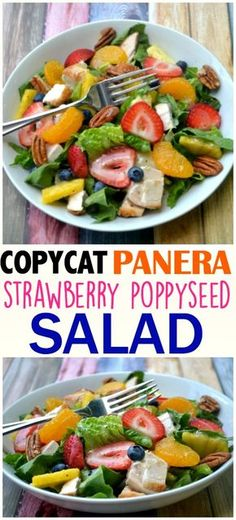 Copycat Panera Bread Strawberry Poppyseed Salad Copycat Panera Bread Strawberry Poppyseed Salad,Food Copycat Panera Bread - Make The Best of Everything Panera Bread, Panera Strawberry Poppyseed Salad, Strawberry Salad Recipes, How To Make Salad, Healthy Salad Recipes, Healthy Corn, Calories, Restaurant Recipes, Skinny Recipes