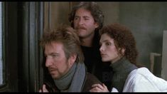 Alan Rickman, Kevin Kline and Mary Elizabeth Mastrantonio in January Man