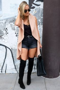 Over the knee suede boots, Zara, San Diego Style blogger, Sarah Lieber