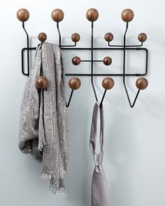 The Eames coat rack, limited edition in black and walnut.