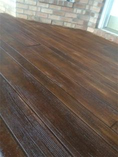 wood stamped concrete | Decorative Concrete Simulated Wood Deck In Pensacola Florida
