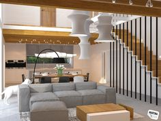 living room and kitchen - Statenice
