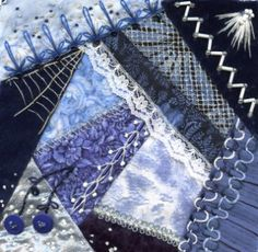 crazy quilt---love the blues