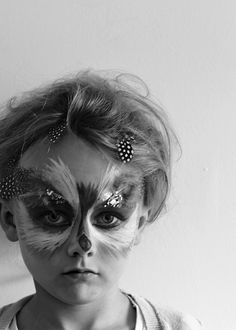 Just So Festival Tribal Tournament Preparation Owl Face Paint 08 lapinblu