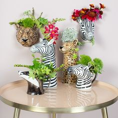 These quirky animal vases are perfect for displaying your favourite blooms. Whether you prefer the leopard vase or the zebra vase, they will definitely make your floral arrangements stand out!