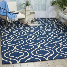 found it at wayfair aidyn handmade navy bluecream area rug