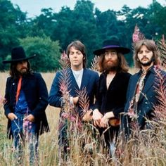 The Beatles in August, 1969, in their final photo-shoot together.