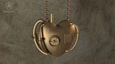 Steampunk Love Pendant