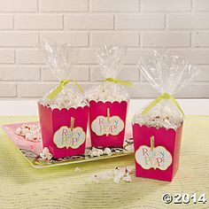 ready to pop baby shower popcorn favor boxes oriental trading baby shower popcorn favors 350x350