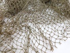 Genuine Recycled Fish Net for decoration (10 Sq.Ft) - brown. $6.25, via Etsy.