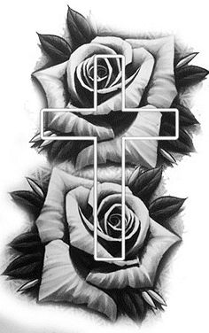 Rose Tattoo Stencil, Tattoo Outline Drawing, Rose Drawing Tattoo, Tattoo Design Drawings, Tattoo Sleeve Designs, Tattoo Designs Men, Skull Rose Tattoos, Rose Tattoos For Men, Tattoos For Women Half Sleeve