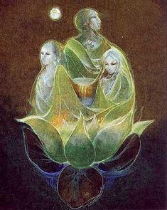 Triple Goddess ~ artist Susan Seddon Boulet #art #goddess