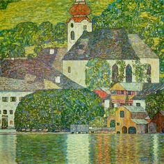 Church in Unterach on the Attersee, 1916 by Gustav Klimt - art print from King