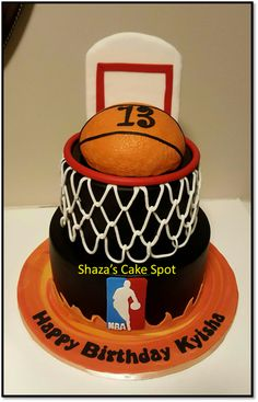 Basketball Cake Cake for our friend's daughter who has turned 13... budding basketball player