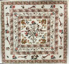 Maker unknown, Tree of Life Quilt, probably made in the United States, 1790-1810. International Quilt Study Center, University of Nebraska-Lincoln, 2007.034.0001