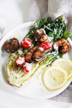 Grilled Caesar Salad With Blackened Shrimp (Grain-free, paleo-friendly, gluten-free) | Lexi's Clean Kitchen