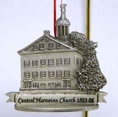 Fort Pewter Christmas ornament historic Central Moravian Church Bethlehem Pennsylvania
