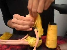 Customizando Boneca por mim Daniela Costa