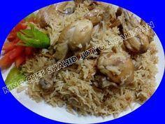 Achari Chicken Pulao (Lahore Famous) By (King Chef Shahid Jutt) Achari Chicken, Briyani Recipe, Pilau Rice, Desi Food, Rice Dishes, Grits, Polenta, Recipies, Sanjeev Kapoor