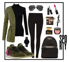 """""""Sporty Chic"""" by norma-licata on Polyvore featuring Philippe Model, Alaïa, LE3NO, STELLA McCARTNEY, MAC Cosmetics, Bobbi Brown Cosmetics, Dolce&Gabbana, CLUSE and Yves Saint Laurent"""
