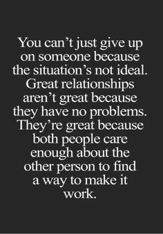 Yes, a hundred times. We will never give up on each other!