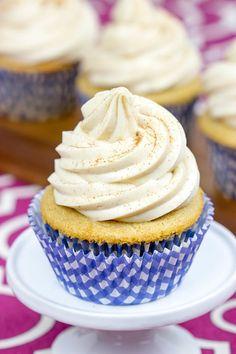 Chai Tea Latte Cupcakes #IDelightInChai