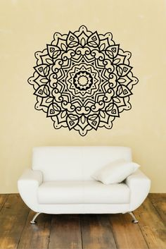 Mandala Wall Decal Mandala Wall Sticker Round by JensVinylDecals