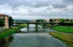 Carcassone, France by bridge