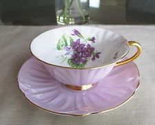 Shelley porcelana fina de osso ** ** Violetas # 13830 Footed oleandro forma