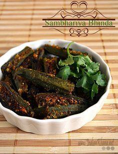 Bharwa Bhindi | Gujarati Bhinda Sambhariya | Okra Recipes ~ Indian Khana