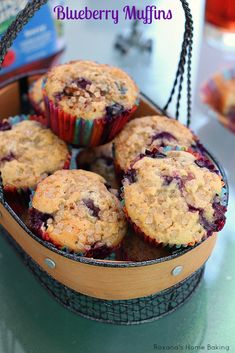 Blueberry oat muffins recipe from Roxanashomebaking.com Oatmeal muffins packed with oozing juicy blueberries for a tasty and nutritious afternoon snack.