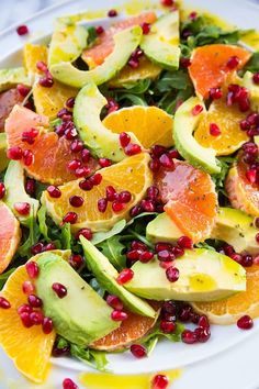 Winter Citrus Avocado Salad - citrus, avocado, pomegranate and arugula, oh my! This is the best salad I've eaten in years!