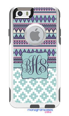 Custom iPhone Case - Custom OTTERBOX Commuter for iPhone 6 6 Plus 5S 5C 4s 4 and Samsung s3 s4 s5 - Aztec Tribal Geometric    The OtterBox®