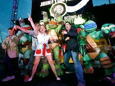 SDCC 2012 - Sean Astin, Jason Biggs, Greg Cipes, Rob Paulsen and Mae Whitman - Teenage Mutant Ninja Turtles