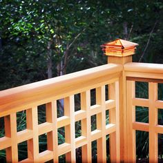 Elegant and durable, these solid Glass Post Caps from Woodway add color and style to any deck, fence or porch post. They feature super thick glass, which protects your post tops from the damaging effects of weather while also adding a stylish touch of color. Glass Railing System, Porch Posts, Wood Post, Deck Railings, Deck Design, Easy Projects, Oasis, Fence, Outdoor Living