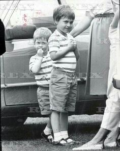 """"""" Prince Henry and Prince William at Smiths Lawn Guards Polo Club Windsor in Royal Princess, Prince And Princess, Princess Of Wales, Prince William And Harry, Prince Henry, Diana Son, Lady Diana, Princes Diana, Charles And Diana"""