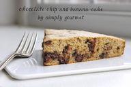 Chocolate Chip and Banana Cake, gluten free