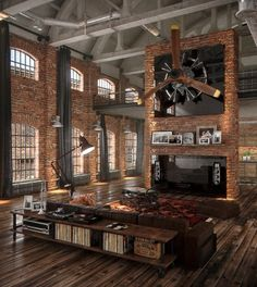Incredible Loft... huge yet friendly & full of light.
