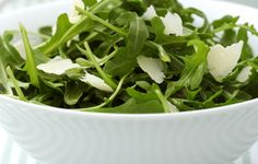 A rocket & parmesan salad is a fuss-free and flavoursome side to any meal Recipe Images, Arugula, Seaweed Salad, Artichoke, Parmesan, Vegan Vegetarian, Green Beans, Spinach, Eruca Sativa
