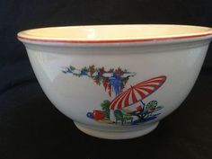 Vintage Homer Laughlin Kitchen Kraft Sun Porch Mixing Bowl Must See | eBay