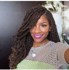 Awesome Marley twists braids Must try - Afro Fahionista Marley Braids, Marley Hair, Marley Twists, Havana Twists, Marley Twist Hairstyles, African Hairstyles, Afro Hairstyles, Protective Hairstyles, Model Hairstyles