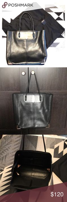 Alexander Wang Tote Black Alexander Wang Tote. 12w x 13 h x 4 d; 8in handle drop. Can wear over the shoulder. In good condition; no damage. Comes with AW storage bag. Big enough to fit MacBook Air and use as Work Tote. Alexander Wang Bags Totes