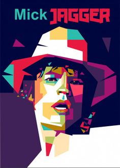 """Beautiful """"Mick Jagger Portrait"""" metal poster created by nur kholis. Our Displate metal prints will make your walls awesome. Pop Art Artists, New Artists, Art Prints Quotes, Framed Art Prints, Caricature, Avatar, Rolling Stones Logo, Eden Design, Pop Art Portraits"""