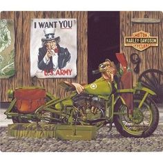 Harley-Davidson® Freedom Riders Embossed Tin Sign