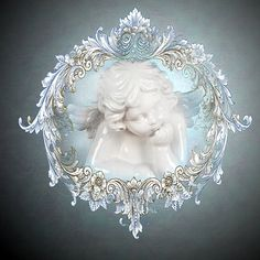 DIGITAL Download Shabby Blue and White Victorian by WhitePickets, $22.00
