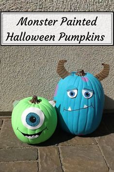 Halloween pumpkin painting ideas for your nspiration. Painting pumpkins & decorating with them is easiest way to be Halloween & fall ready. Costume Halloween, Theme Halloween, Halloween Birthday, Holidays Halloween, Halloween Crafts, Halloween 2014, Disney Halloween Decorations, Halloween Camping, Halloween Games