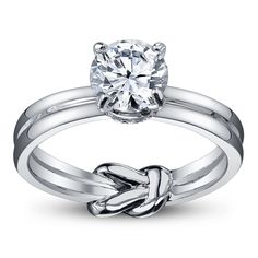 Hidden knot engagement ring - infinity symbol - infinite love // ...... I know I'll never marry again & I'll always believe that lasting love is a million times more important than jewelry or a big party ..... but this kind of takes my breath away.