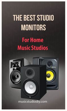 Studio monitors are virtually the epicenter of it all. Here we take a look at what are some of the best studio monitors for home music studios. Music Studio Decor, Home Recording Studio Setup, Recording Studio Equipment, Home Studio Setup, Home Studio Music, Home Music Studios, Dj Equipment, Music Production, Monitor Speakers