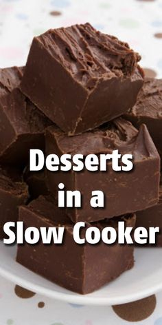 12 Delectable Desserts in a Slow Cooker. I love using my slow cooker. I don't have to stand over the stove or keep checking the oven. At the holidays, this is the only way to go because you can get the rest of your meal done while your dessert is cooking! Crock Pot Desserts, Slow Cooker Desserts, Crockpot Dishes, Köstliche Desserts, Crock Pot Cooking, Slow Cooker Recipes, Delicious Desserts, Dessert Recipes, Yummy Food